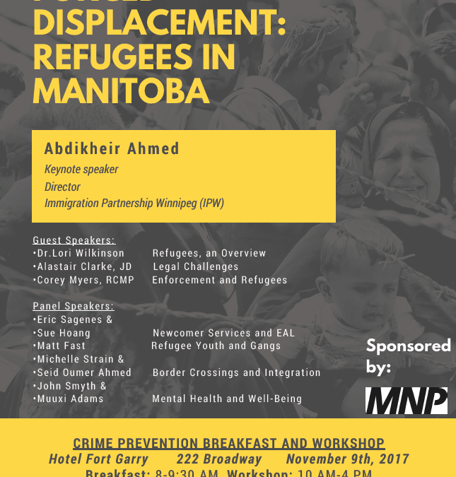 Forced Displacement Refugees Manitoba Event