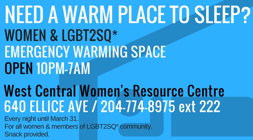 Emergency Warm Space Opens