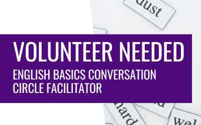 Volunteer Opportunity – English Conversation Circle Facilitator