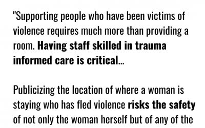 Family Violence Consortium Urges Caution with Unsupported Hotel Stays