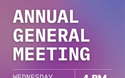 Join us for our AGM: Sept 15!
